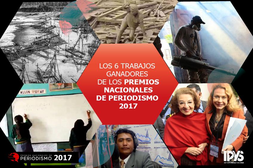 Accede a los seis trabajos ganadores de los Premios Nacionales de Periodismo 2017
