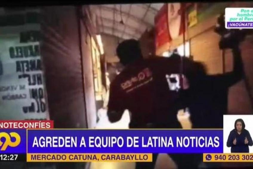 Perú: equipo de televisión fue agredido por dos sujetos para impedir cobertura