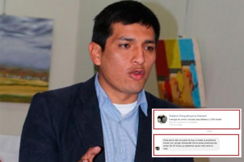 ALERTA: Periodista Liubomir Fernández es amenazado de muerte