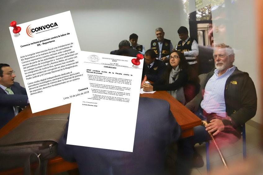 APEP y Convoca condenan intervención de fiscalía a oficinas de IDL Reporteros