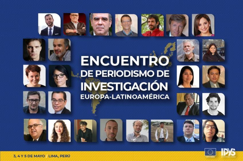 Estos son los 24 ponentes del Encuentro Europa-Latinoamérica de Periodismo de Investigación