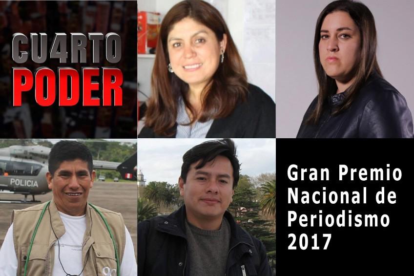 Estos son los nominados al Gran Premio Nacional de Periodismo 2017
