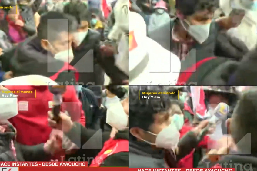 Perú: equipo periodístico de canal de televisión es agredido por simpatizantes de candidato Pedro Castillo