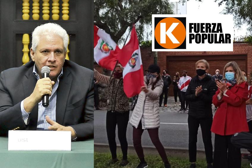 Perú: manifestantes organizan plantón en las afueras de la vivienda de director de La República
