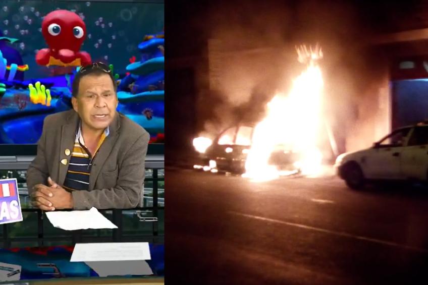 Perú: periodista denuncia incendio de su automóvil como represalia por su trabajo