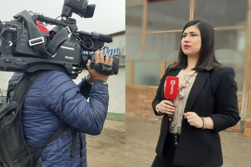 Perú: sujeto sin mascarilla agrede a equipo periodístico