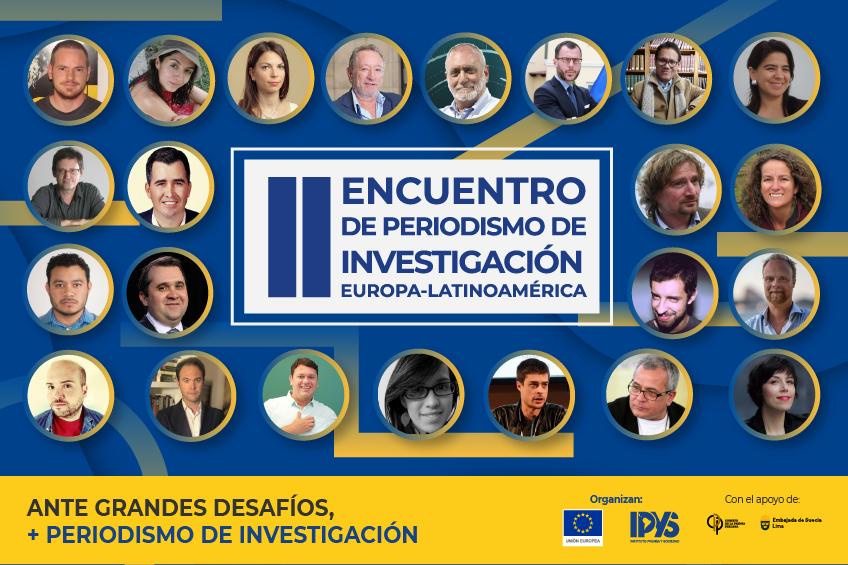 Conoce a los expositores del II Encuentro de Periodismo de Investigación Europa-Latinoamérica